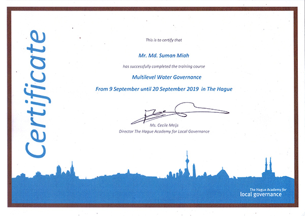 Certificate of the short course